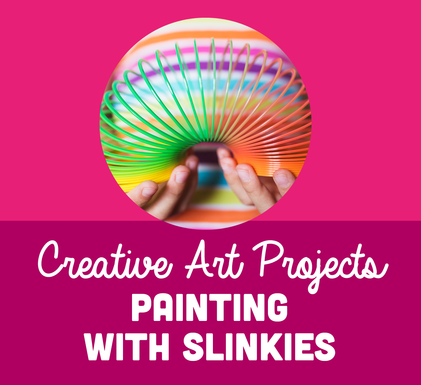 At Home Play Tips: Painting with Slinkies