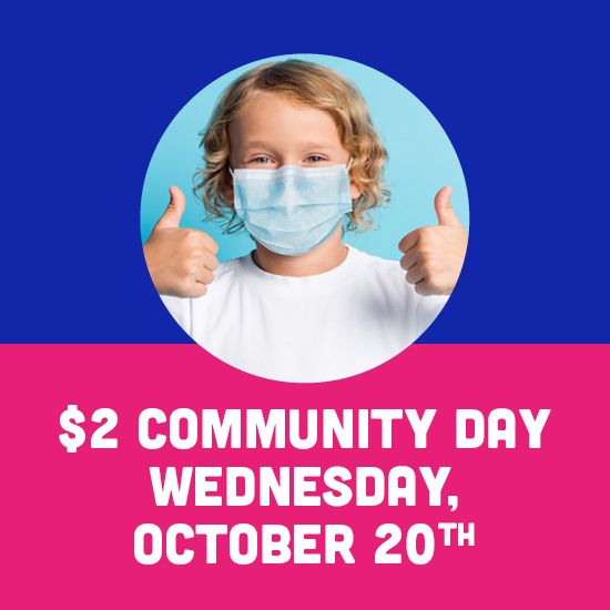 $2 Community Day on October 20