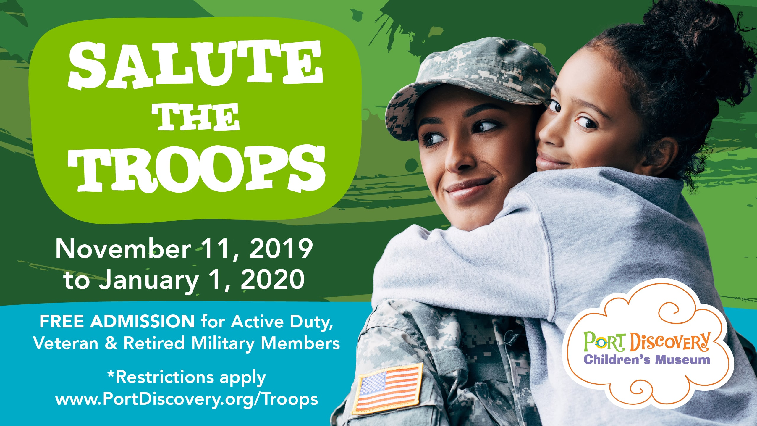 Salute the Troops - November 11, 2019 - January 1, 2020
