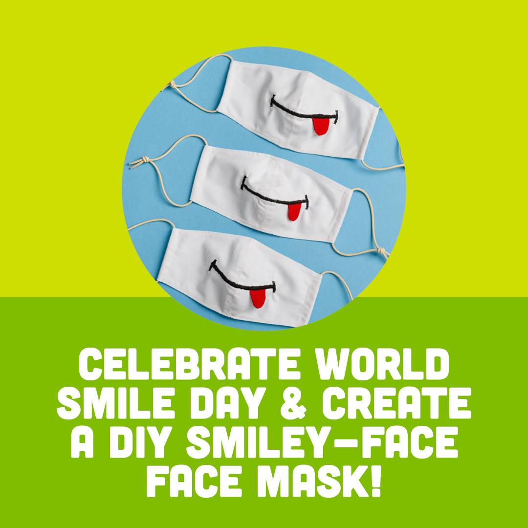 Celebrate World Smile Day & Create A DIY Smiley Face Face Mask!