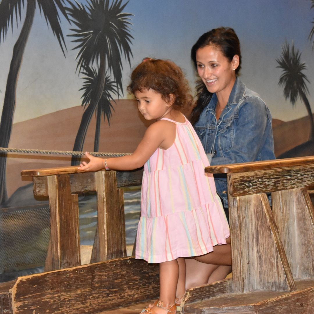 Girl and Mother playing in Adventure Expeditions