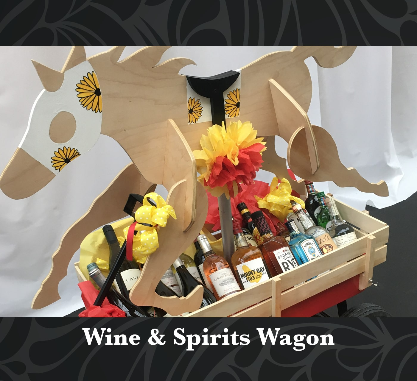 Wine & Spirits Wagon Raffle Package