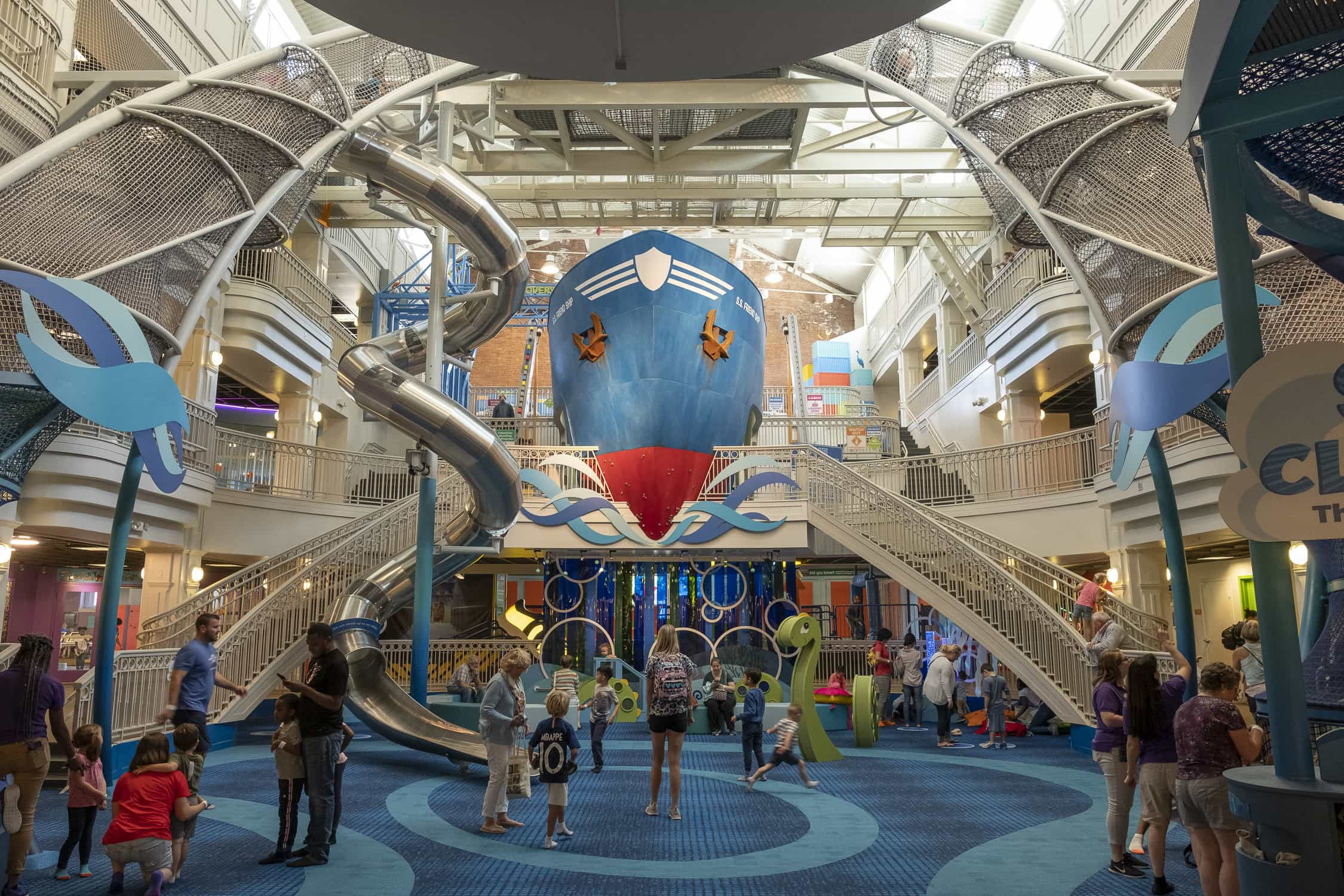 BIG New Exhibits at Port Discovery - The SkyClimber and The Port!